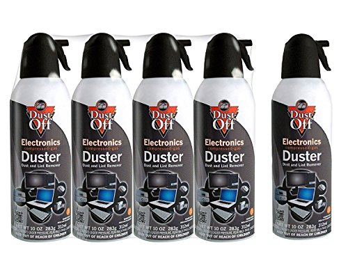 (Dust-Off Disposable Compressed Gas Duster, 10 oz Cans - 5)