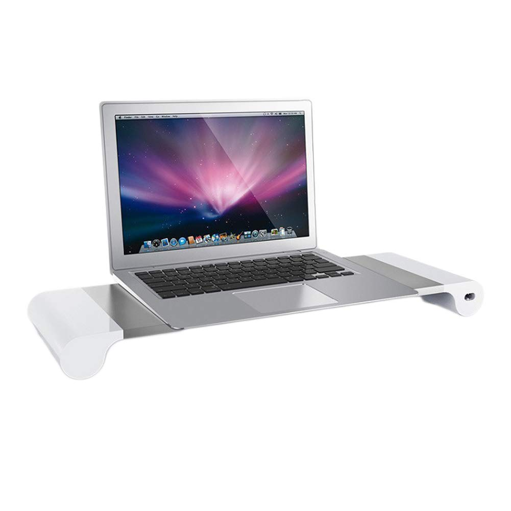 Lalago Monitor Stand Computer TV Riser - Reduce Neck Pain, Keyboard Storage Office Desk Drawer Organizer with 4 Ports 3.1A Quick Charge USB Power Charging Station