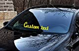 17'' x 7'' Custom text choice of colors Windshield Vertical Decal tunning JDM KDM style Euro Windshield Carv Tuning Racing Sticker Vinyl Custom tex