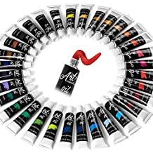 32 Color Oil Paint Set - Professional Oil Painting Sets for Artists, Beginners & DIY-ers | Complete Collection of Pigment Rich Oil-Based Paints for Arts & Crafts Projects | 12ml Tubes & Paint Brush