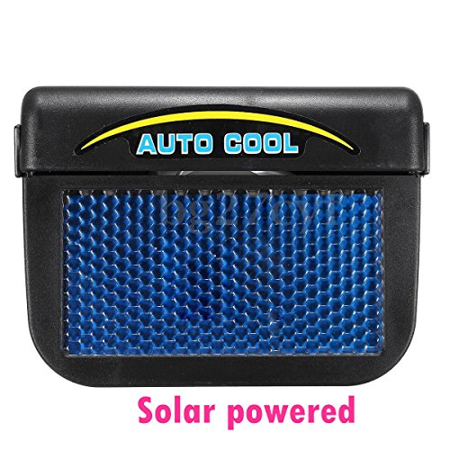 ABS Solar Powered Car Window Windshield Auto Air Vent Cooling Fan System (Auto Cool)