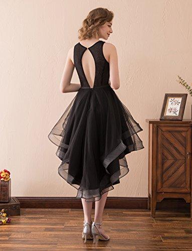 Satin Tüll Asymmetrisch Perlenstickerei Schmuck Abschlussball Ballkleid Schärpe Cocktailparty Kleid Erosebridal Schleife mit qxBFEtwz