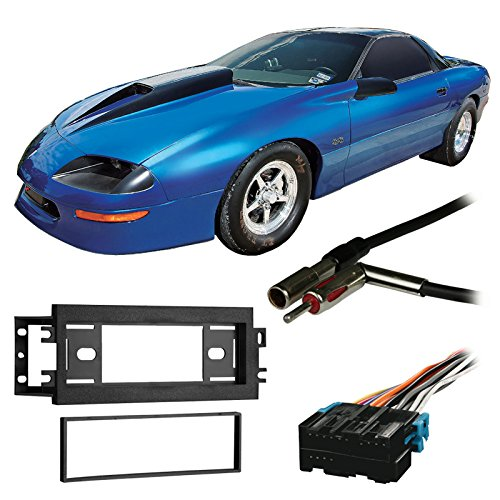 Fits Chevy Camaro 1993-1996 Single DIN Stereo Harness Radio Install Dash Kit ()
