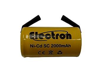 Pilas SC de níquel-cadmio para taladros, linternas y alarmas ...