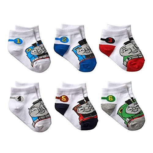 Owl Thomas (Thomas & Friends Little Boys' Numbered Socks 6 Pack Size 2-4)