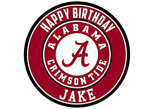 Alabama Crimson Tide Edible Cake Topper Personalized Birthday 8