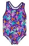 Speedo Girls Jungle Floral Racerback One Piece Swimsuit Multi Size 12