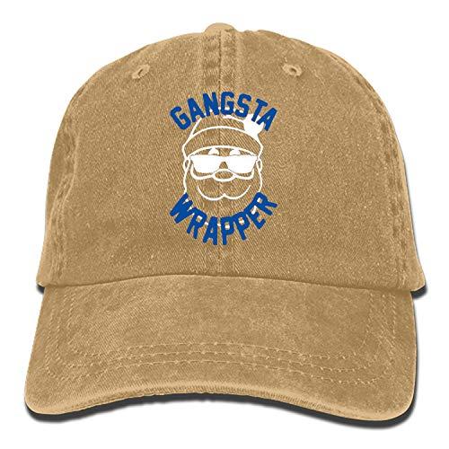 Gangsta Wrapper Denim Hat Adjustable Mens Casual Baseball ()