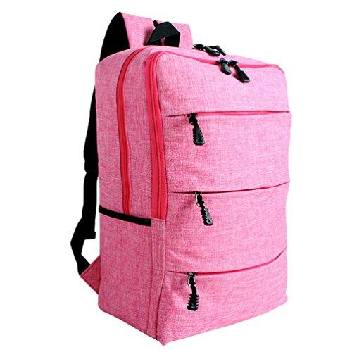 ZKOO Mochilas Escolares Lona Escolar Mochilas Daypacks Gran Capacidad Bookbag Mochila de Viaje Laptop Backpack Rosa