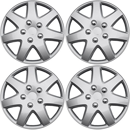 hub-caps-for-select-chrysler-sebring-pack-of-4-16-inch-silver-wheel-covers