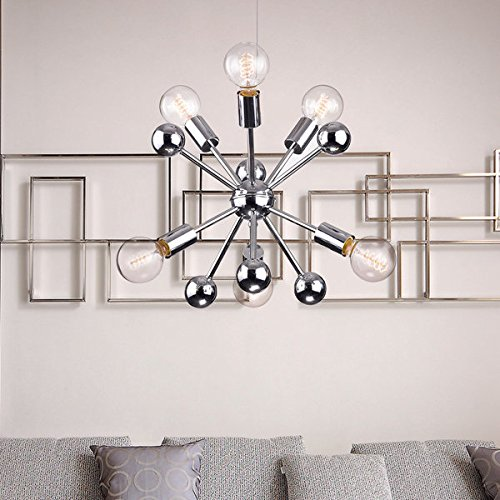 Jojospring Lorena Sputnik Chrome Finish Industrial Chandelier with 6 Lights (Structures 6 Light)