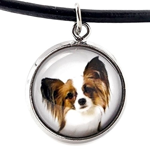 Art Dog Ltd. Papillon, Necklace for People who Love Dogs, Photo Jewelry, - Necklace Papillon