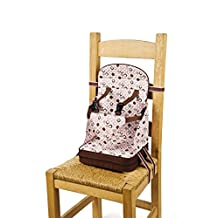 Go Anywhere Travel Feeding Booster Seat - Pink/Espresso