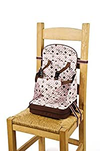 Go Anywhere Booster Seat, Pink/Espresso