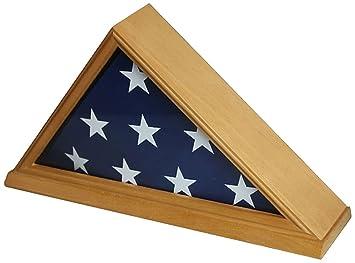 Amazoncom Solid Wood Memorial 5 X 95 Flag Display Case Frame