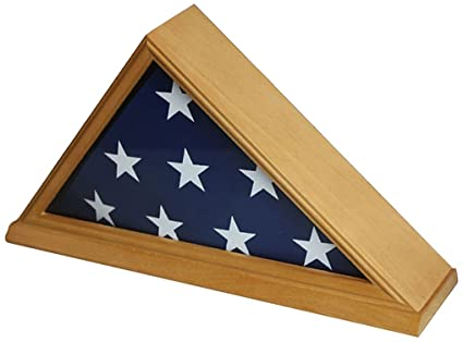 f448d803f822 Amazon.com   Solid Wood Memorial 5  x 9.5  Flag Display Case Frame ...