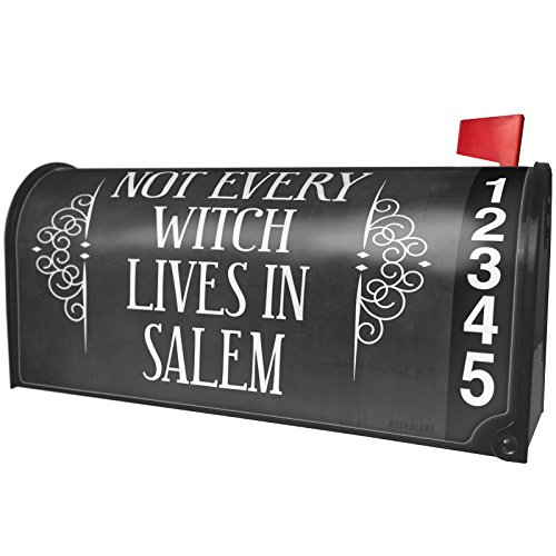 (NEONBLOND Not Every Witch Lives in Salem Halloween Haunting Flourish Magnetic Mailbox Cover Custom)