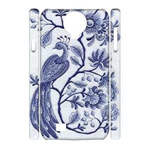 Custom Cover Case with Hard Shell Protection for SamSung Galaxy S4 I9500 3D case with blue and white porcelain lxa#964924