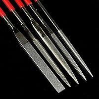 Fashionclubs 5pcs Coarse Grit Diamond Needle File Set