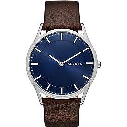 Skagen Holst Slim Leather Watch