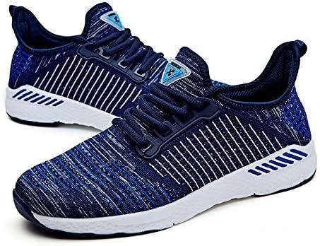 Mens Trail Running Zapatos para hombres comodidad transpirable Sneakers banda luz macho adulto de zapatillas zapatos deportivos hombres ,AZUL,UE42: Amazon.es: Deportes y aire libre