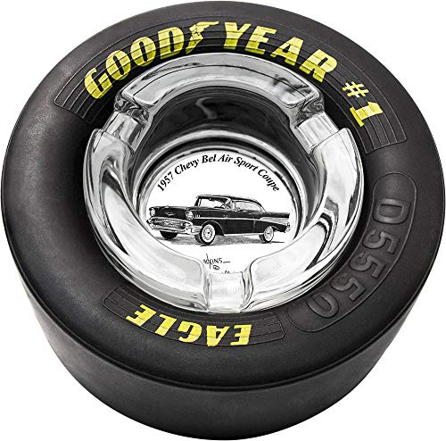 Dale Adkins Art Classic Car Tire Ashtray (1957 Chevy Bel Air Sport Coupe - 01)