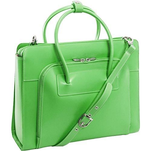 Women's Case w/Removable Sleeve, Leather, Small, Green - LAKE FOREST | McKlein by McKleinUSA