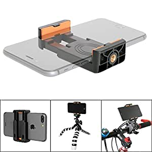 Fantaseal Super Stable Anti-Slip Cellphone Clamp Holder Clip Tripod Adapter Mount for Apple iPhone X / 8 / 7/ 7 plus / 6s / 6s plus/ 6 / 6 plus / 5 / 5s iPhone 5se / Samsung / Sony xperia e5/ z5/ z5 premium z5 /compact z3 z3 compact /Huawei /ascend p9/ p9 lite p9 plus p8 p8 lite p7 mate 8 mate 7 mate s honor 8 honor 7 honor 6 g8 g7 / Xiaomi redmi note 4 note3 redmi 4 redmi 3 Xiaomi /mi 5 5s plus 5s max 4s 4 4i 4c / Google/ Nexus etc and Other Android, Smartphones