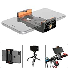 Fantaseal Super Stable Anti-Slip Cellphone Clamp Holder Clip Tripod Adapter Mount for Apple iPhone 7/ 7 plus / 6s / 6s plus/ 6 / 6 plus / 5 / 5s iPhone 5se / Samsung / Sony xperia e5/ z5/ z5 premium z5 /compact z3 z3 compact /Huawei /ascend p9/ p9 lite p9 plus p8 p8 lite p7 mate 8 mate 7 mate s honor 8 honor 7 honor 6 g8 g7 / Xiaomi redmi note 4 note3 redmi 4 redmi 3 Xiaomi /mi 5 5s plus 5s max 4s 4 4i 4c / Google/ Nexus etc and Other Android, Smartphones