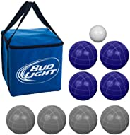 Bud Light Bocce Ball Set - Regulation Size with Carrying Case