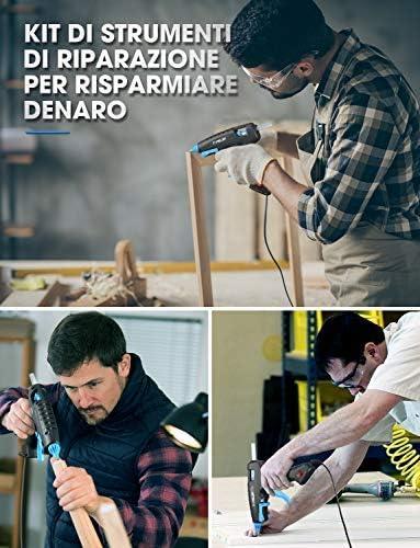 Pistole f/ür DIY Kunst und Handwerk 100 W 12 Klebesticks 3 Fingerschutz Projekte mit langem Griff TOPELEK Hei/ßklebepistole