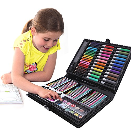 GIFTS FOR GIRLS 114 Piece Art Set With Carry Case Birthday Gift Present