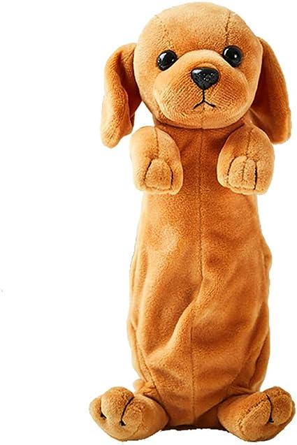 Probeninmappx - Estuche para lápices de peluche, diseño de cachorro: Amazon.es: Oficina y papelería