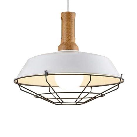 NIUYAO Lámparas de araña Metal avec Rejillas Iluminación de techo Ajustable Industrial Retro 1 Luz-Blanco