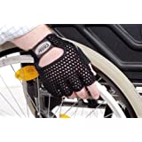 Leather Breathable Wheelchair Cycling Bicyle Pushing Gloves Glove Mittens
