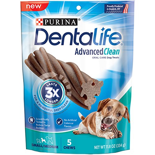 Purina Dentalife Advanced Clean Oral Care Small/Medium Adult Dog Treats - 5 Ct. Pouch
