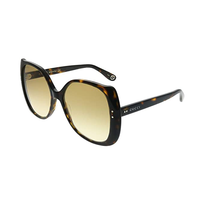 Gucci Gafas de Sol GG0472S DARK HAVANA/BROWN SHADED mujer ...
