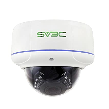 SV3C 1080P Poe cámara ip, cámara domo de vigilancia interior / exterior con 2.8MM