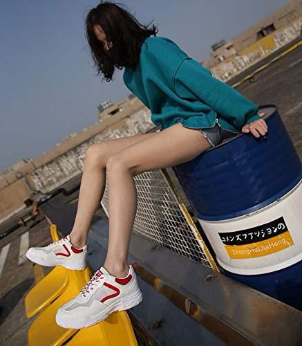 scarpe red delle netto libero white bianche rosso 36 breathless bianco da scarpe wild scarpe al KOKQSX summer donna 35 sport corsa tempo q1z8nZP