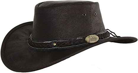 Jacaru Traveller Hat Roo Nomad Leather Brown