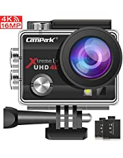 Campark ACT74 Action Camera 4K 16MP Waterproof Camera 30M Compatible with gopro (29.99 Deals for 1 Week)