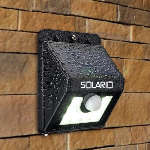 Stone Accent Strip - Super Bright Outdoor Solar Lights with 8 LEDs- Maintenance Free Motion Activated Light- 100% Weatherproof Body (Black)