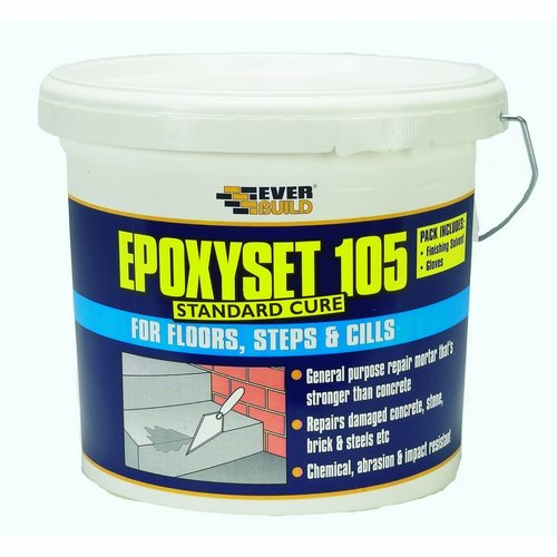 Everbuild EPOX1054 105 Epoxyset Standard Cure Repair Mortar, Multi-Colour, 4 kg