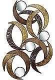 Deco 79 96663 Placa de Pared de Metal con Espejo, esculpida maravillosamente, 24 Pulgadas