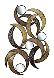 Deco 79 96663 Metal Mirror Wall Plaque Beautifully Sculptured, 24-Inch