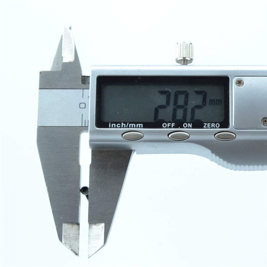 xunliu Grade 14,9/Legierung Stahl scm440/Zylinder Innensechskant Kopf ger/ändelt Gap Schraube Schwarz M3X60 10pcs