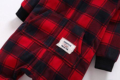 ZARU Navidad Niño recién nacido de la muchacha de manga larga mono del mameluco Conjuntos de ropa ★Ciervos lindo�?niño 0 a 2 años Rojo #1