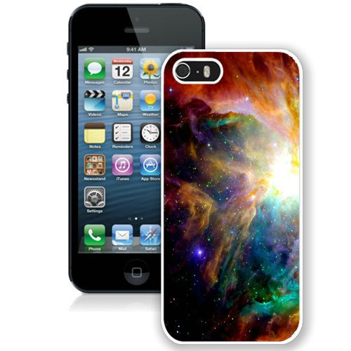 Coque,Fashion Coque iphone 5S Colorful Galaxy Illustration blanc Screen Cover Case Cover Fashion and Hot Sale Design
