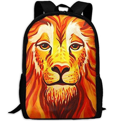 Markui Adult Travel Hiking Laptop Backpack Lion Face Paint School Multipurpose Durable Daypacks Zipper Bags Fashion ()