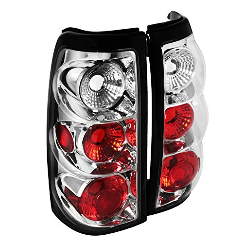Spec-D Tuning Euro Chrome Housing Clear Lens Tail Lights for 2003-2006 Chevy Silverado 1500 2500 Taillights Assembly…